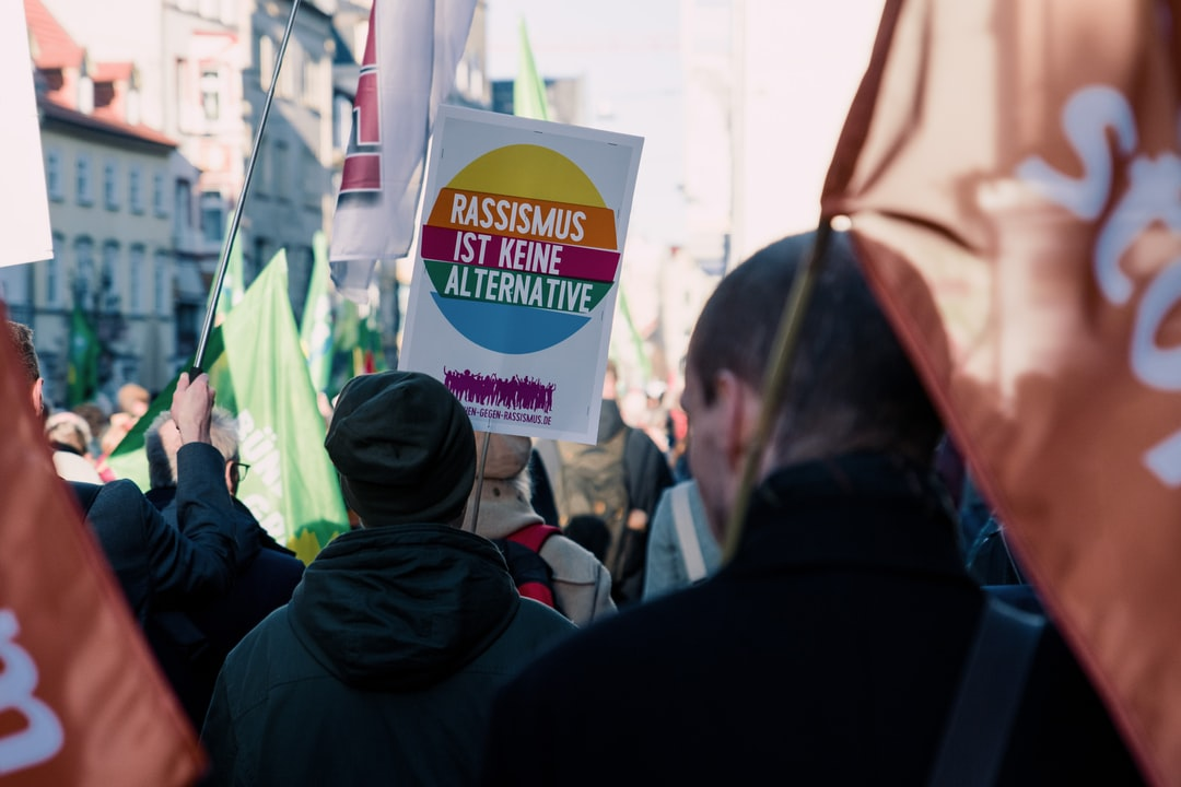 """#unteilbar Demonstration In Erfurt, Germany. 15. Februar 2020. the Sign Reads """"racism Is Not An Alternative"""" Which Is A Reference To the German Right-Wing Party """"alternative For Germany"""". - unsplash"""