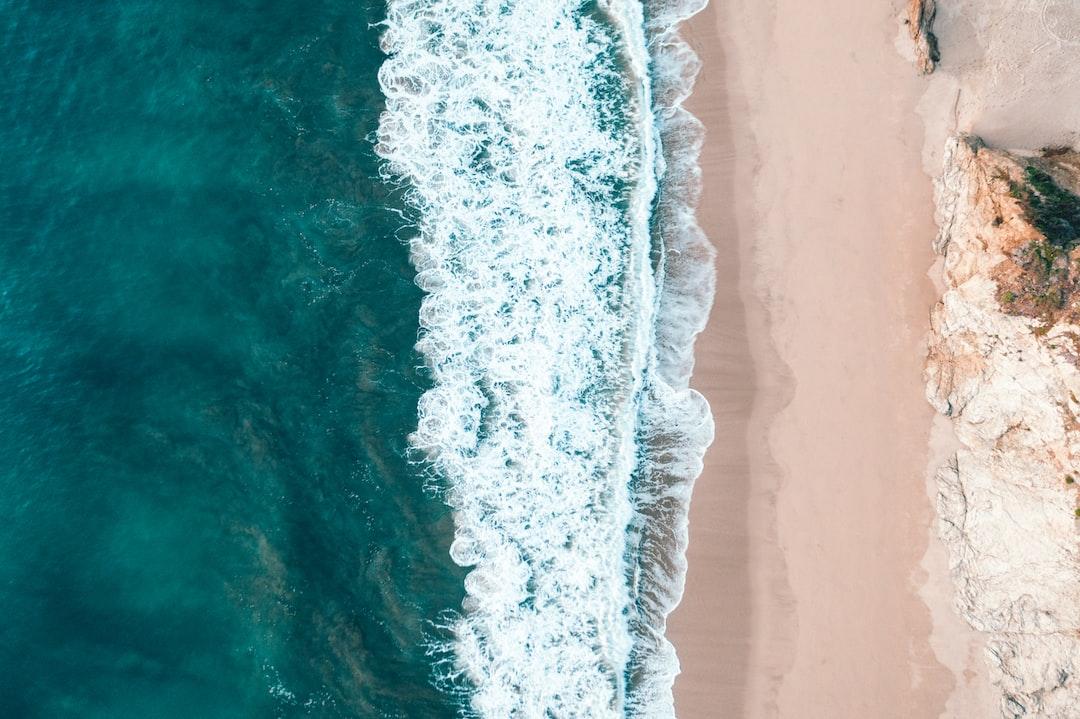 Aerial View of Ocean Waves - unsplash