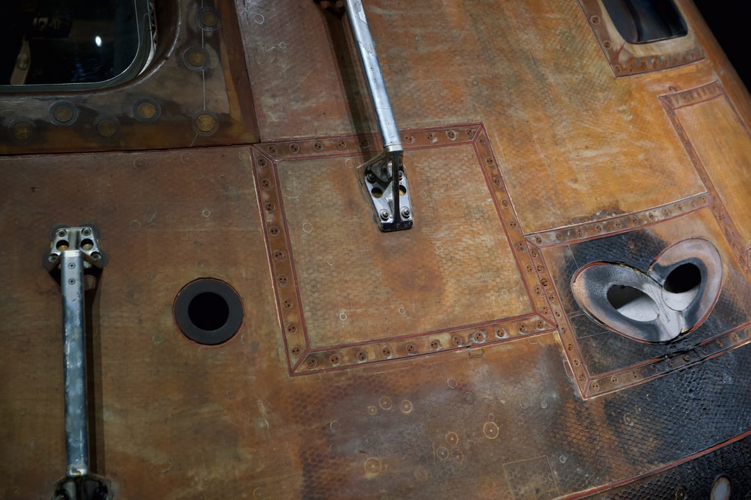 Detail of the Apollo 14 'Kitty Hawk' command module. This capsule splashed down in the South Pacific on February 9, 1971.