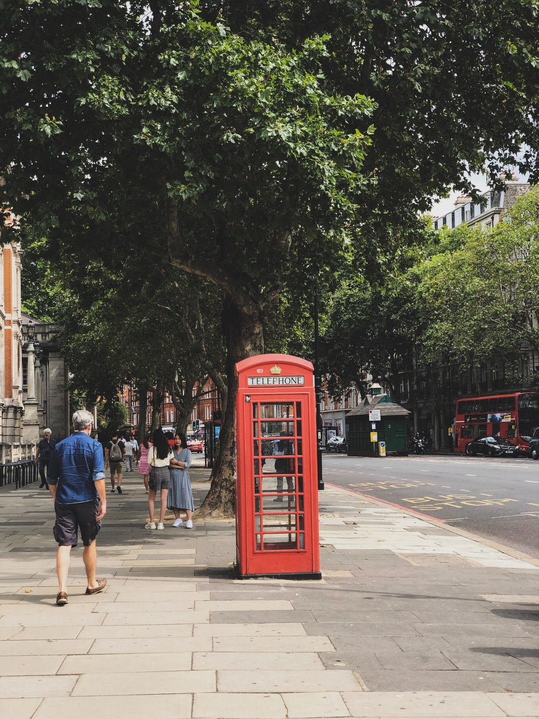 Phone booth in London