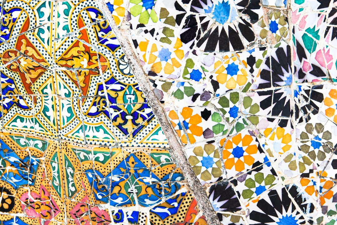 Close-up of one the the wall mosaics