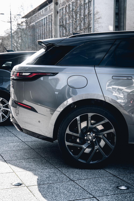 white car on gray concrete floor