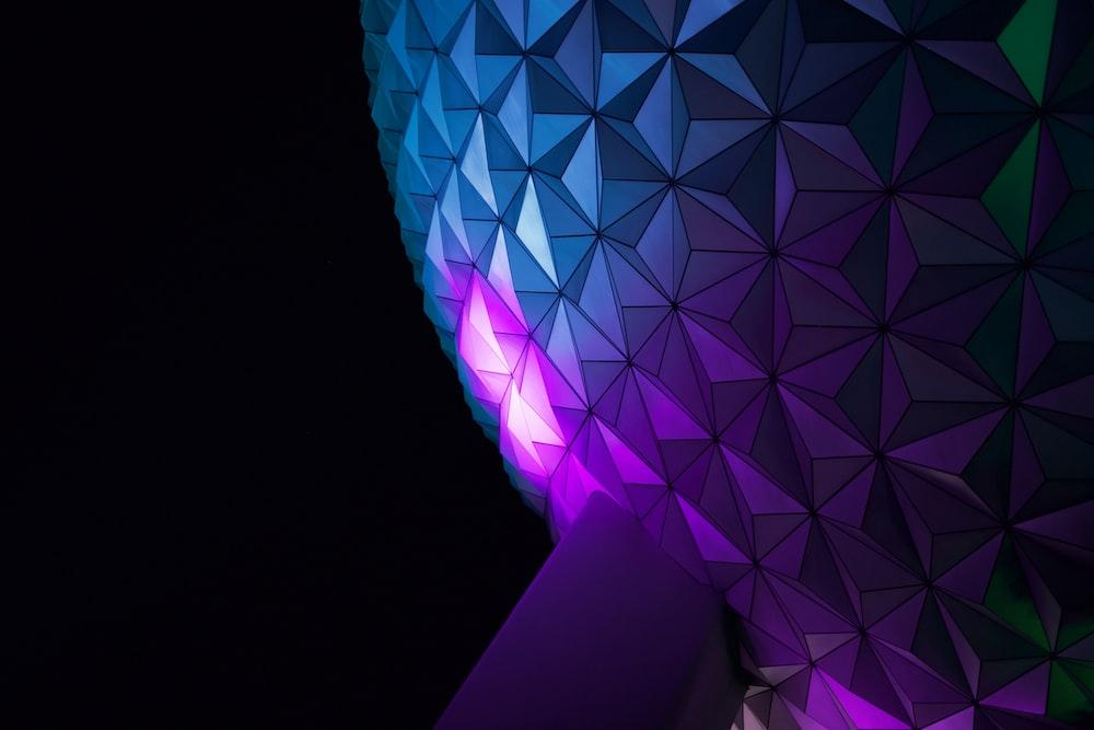 purple and white round light