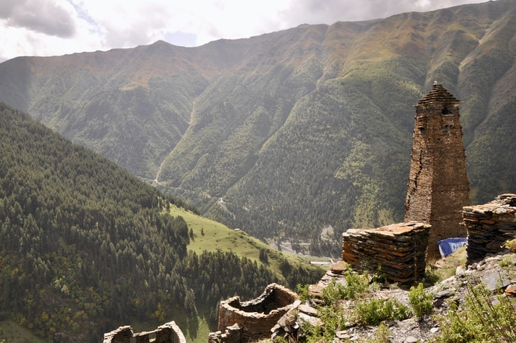 Tusheti mountains
