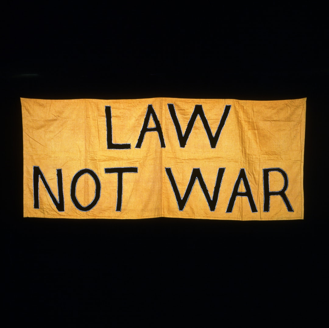 Law Not War. Suffrage Banner, 1908-1914 - unsplash
