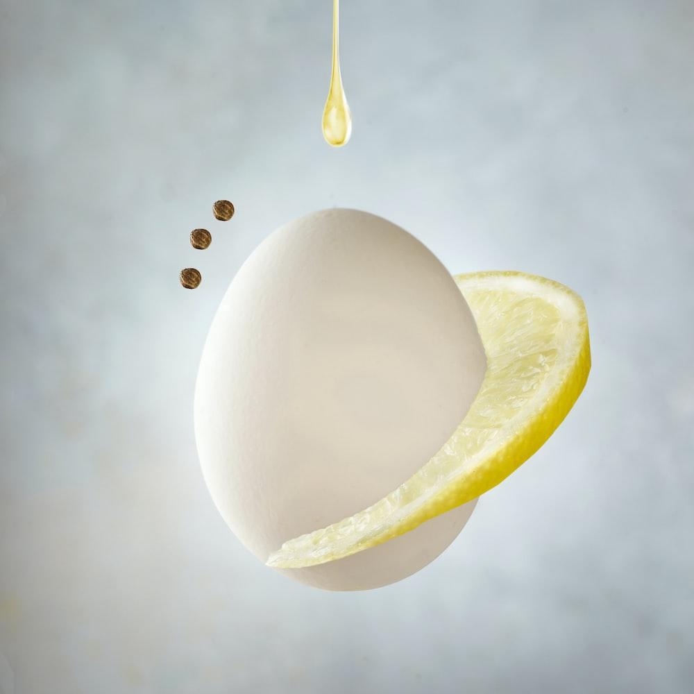 yellow round light on white surface