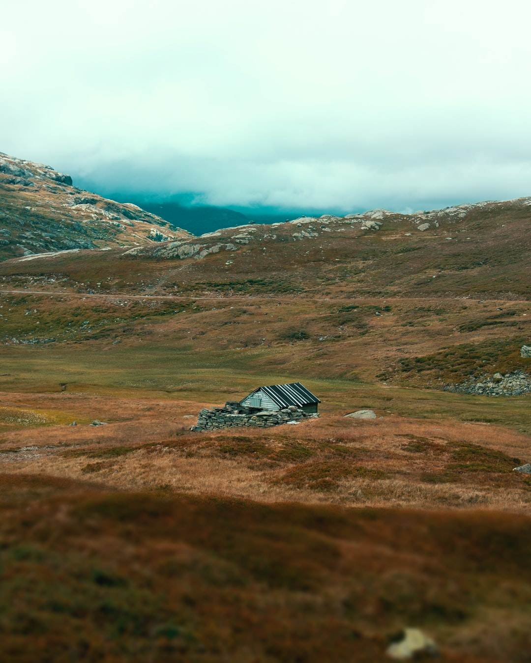 Presumably a shepherds cabin in the Norwegian mountains.