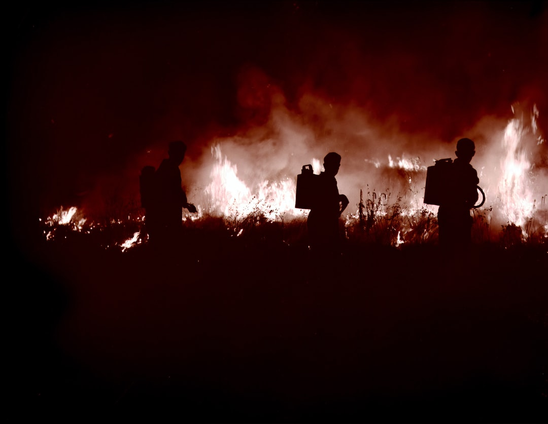 Fighting A Grass Fire At Mount Beauty, About 1940s. - unsplash