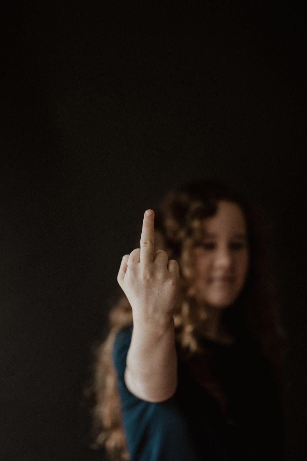 Hand gestures - middle finger