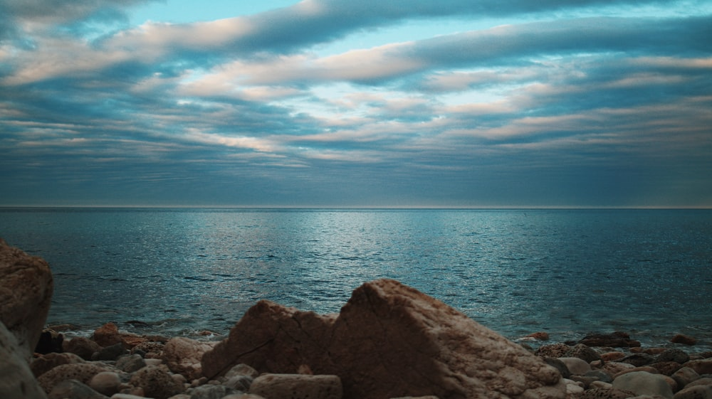 gray rocky shore under blue sky during daytime