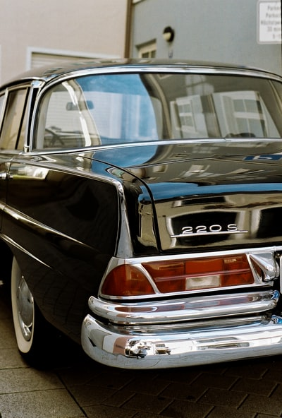 Back of old Mercedes Benz 220 S