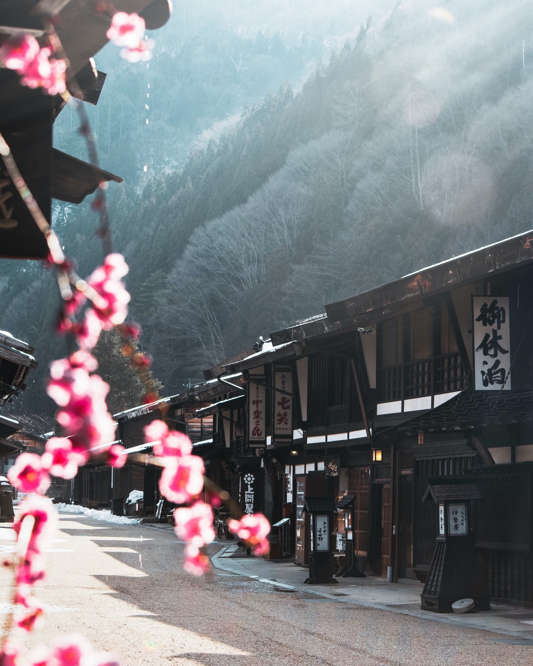 Old classic street in Japan Alps