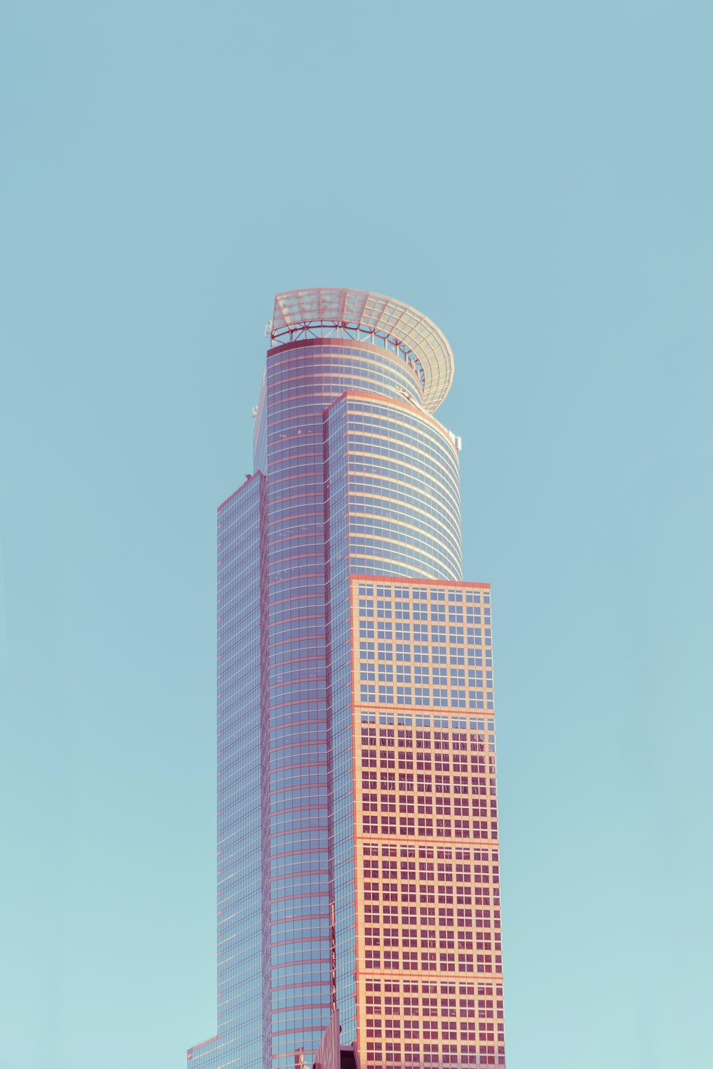 pink and white concrete building