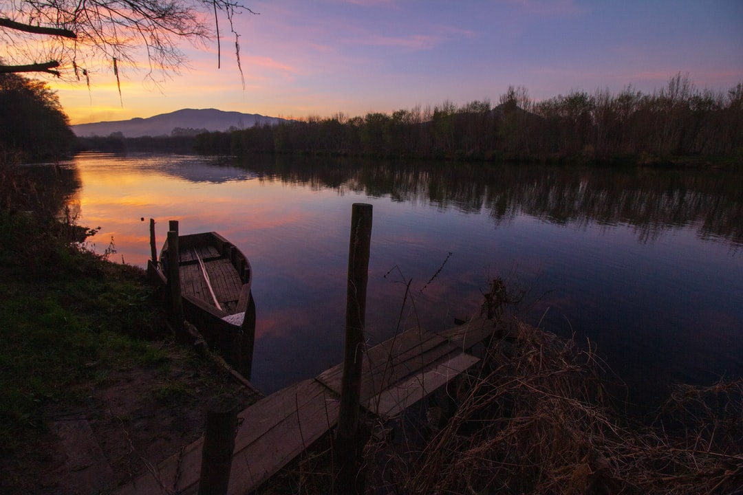 sunset, ponte de lima, portugal, viana do castelo, sun, sky, river, tranquility, relaxation, landscape, water, peace, 10mm, tourism, magic, winter, cold, cleanliness, boat, blue hour