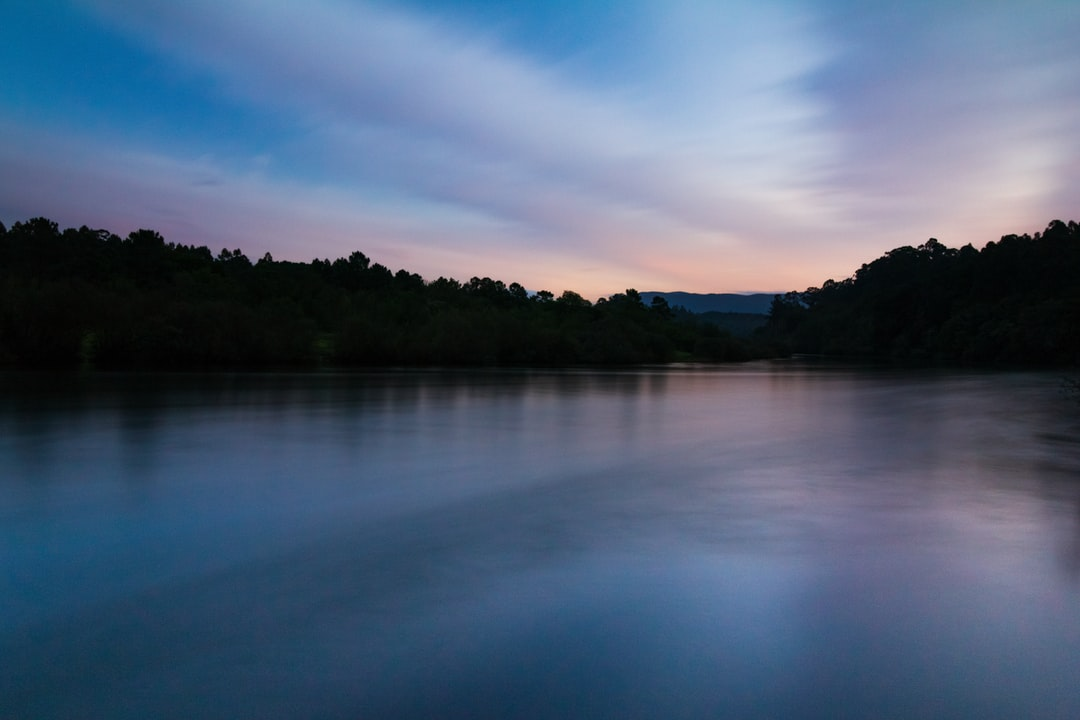 sunset, landscape, river, miño, sky, clouds, nature, romanticism, mountains, trees, forest, water, autumn, reflective, reflection, galicia, pontevedra, twilight, peaceful, silhouette, solitude