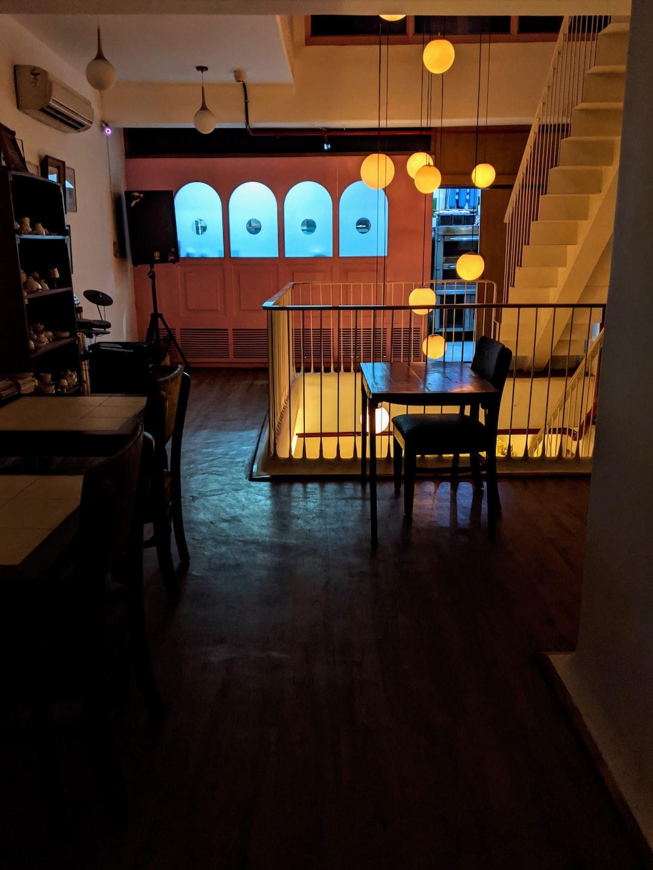 Rustic cafe in Delhi