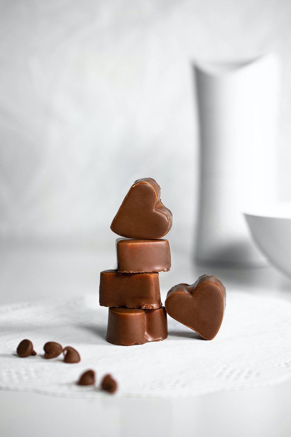 brown wooden heart shaped figurine