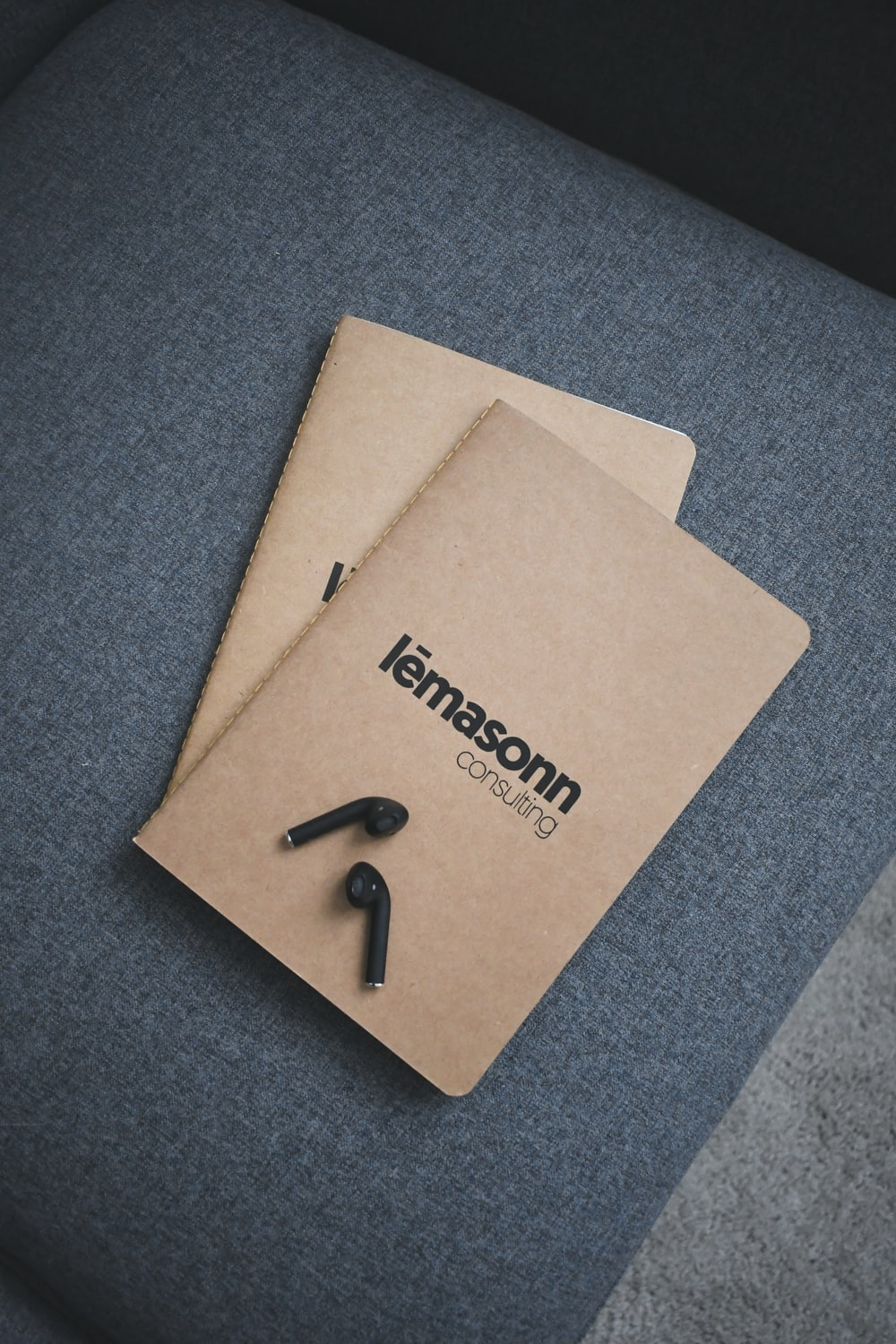 brown paper with black paper clip