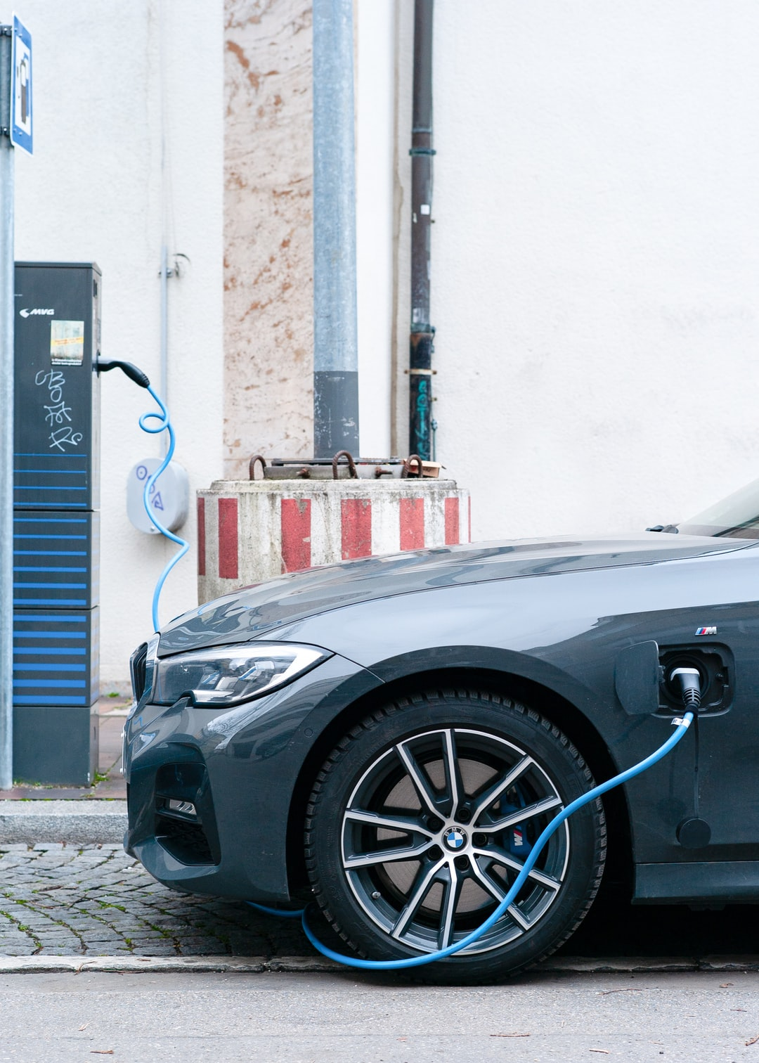 BMW electric hybrid vehicle  on charging station