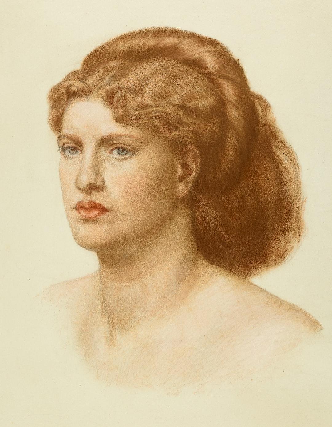 Portrait of Fanny Cornforth, Head and Shoulders, 1874 by Dante Gabriel Rossetti