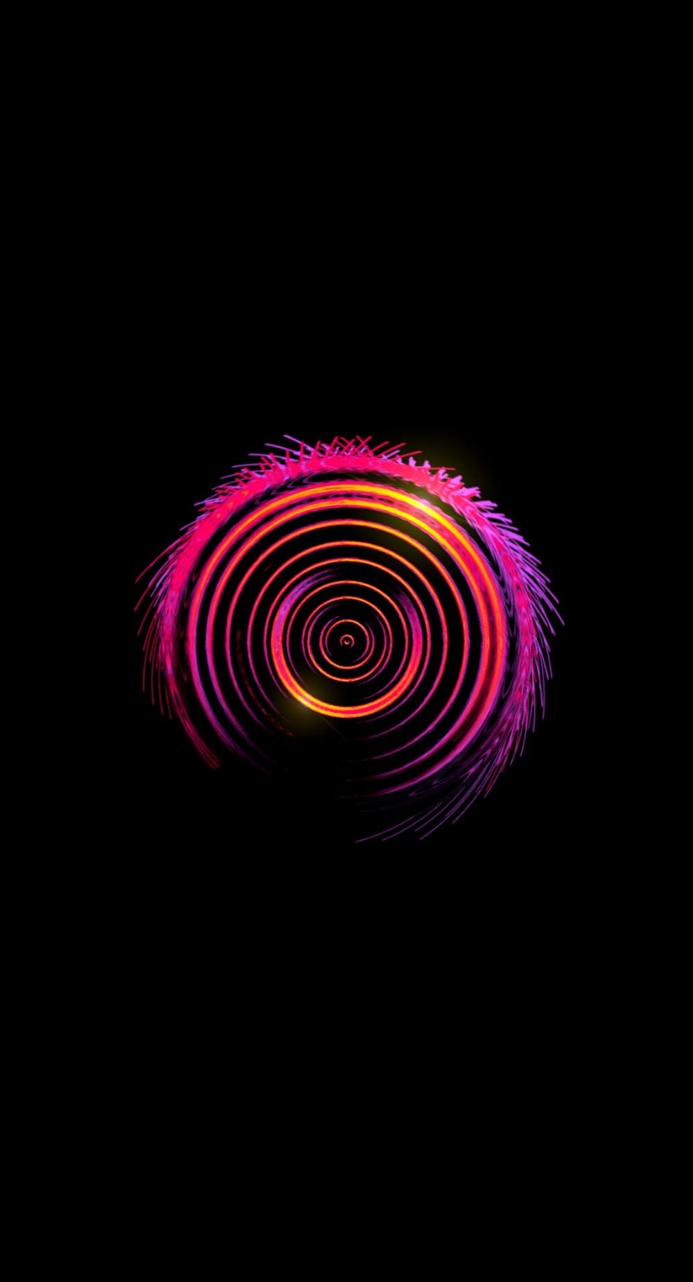 purple and white round illustration