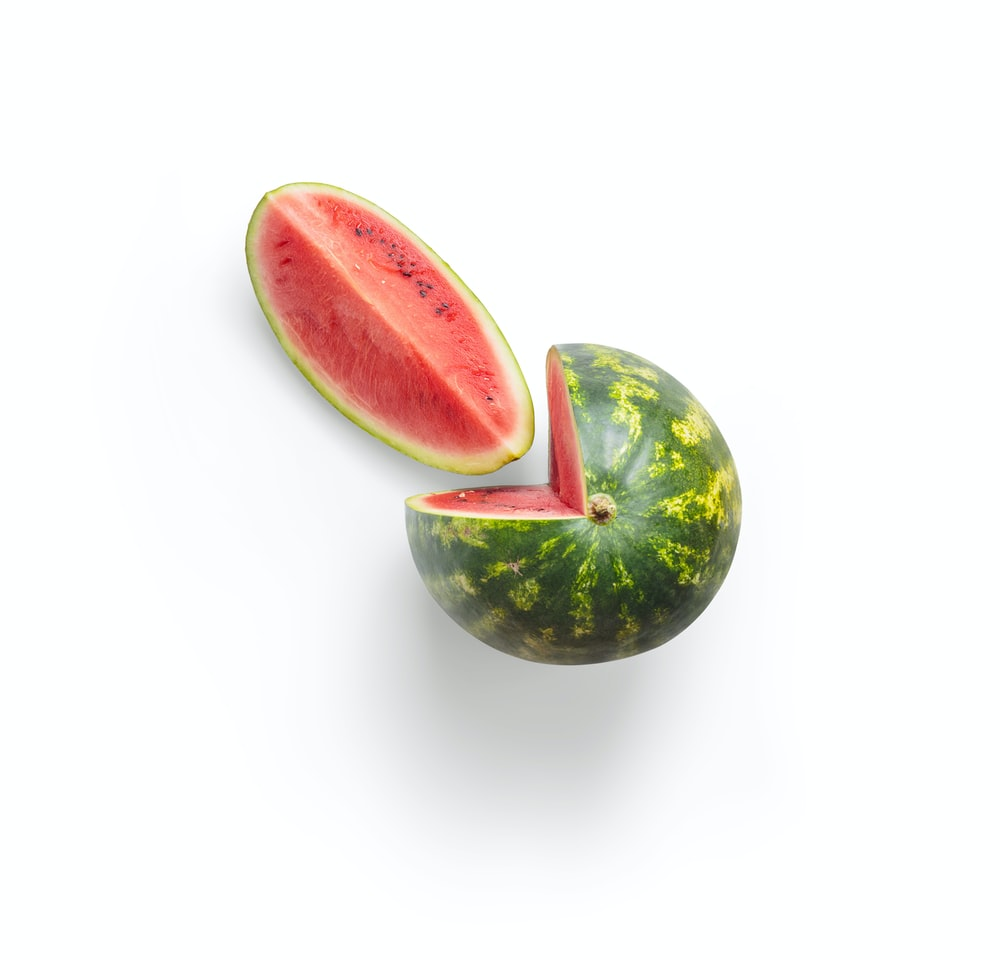 green and red watermelon fruit