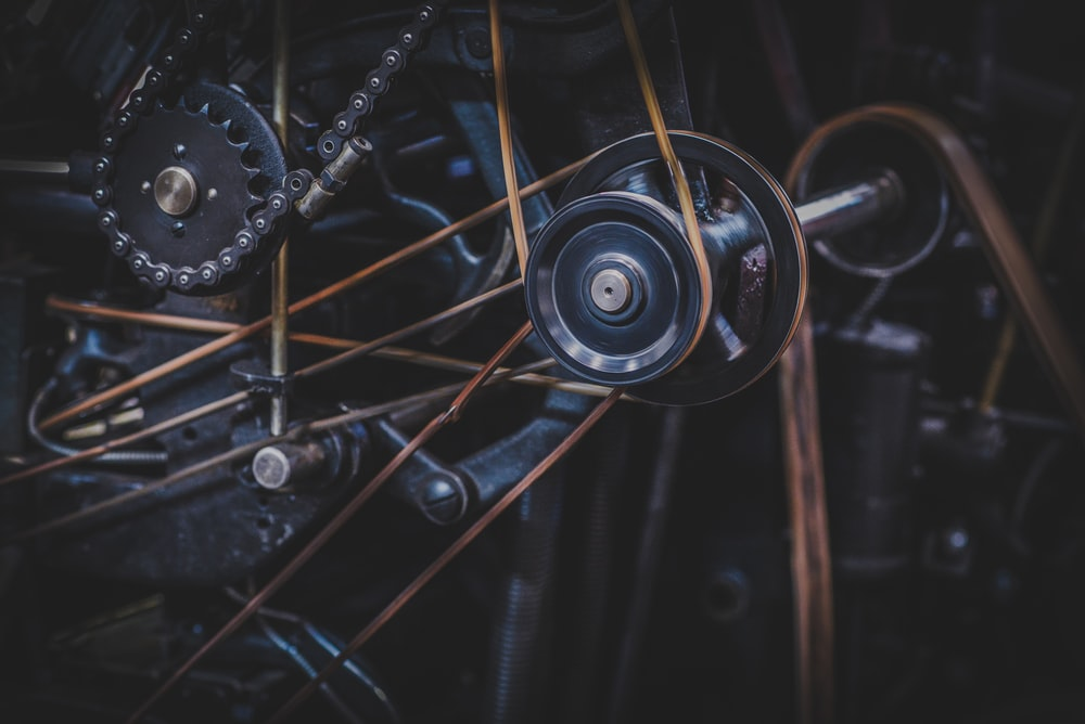 silver and gold bicycle wheel