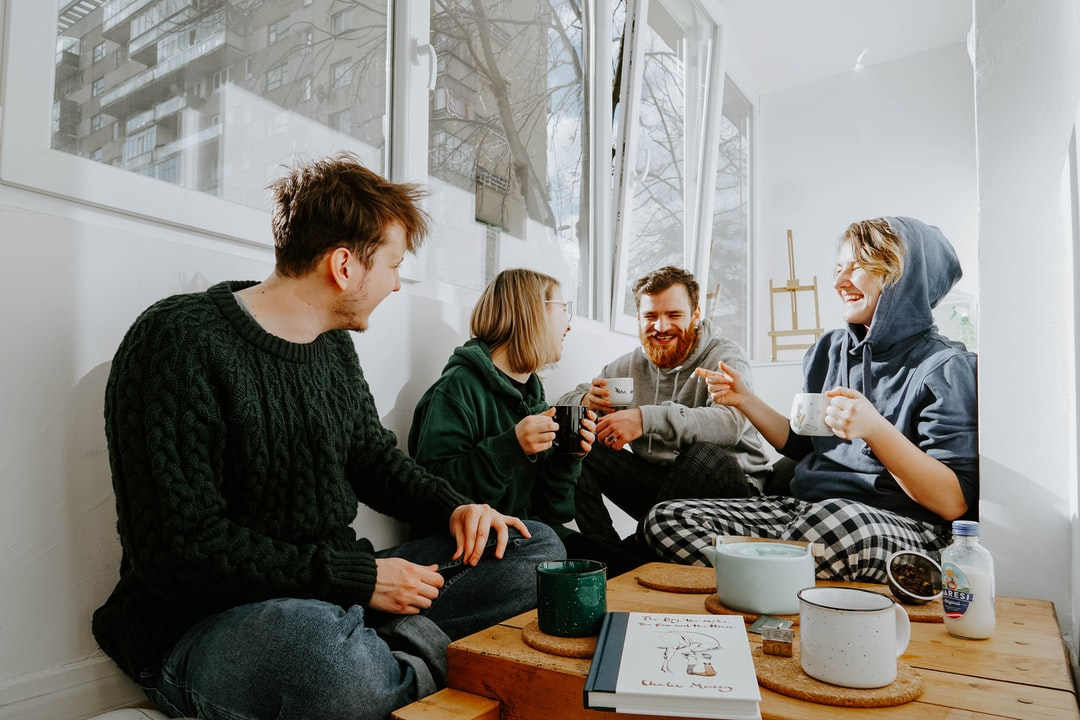 Starting Your Day With Laughter and Friends Is Pure Happiness.  - unsplash