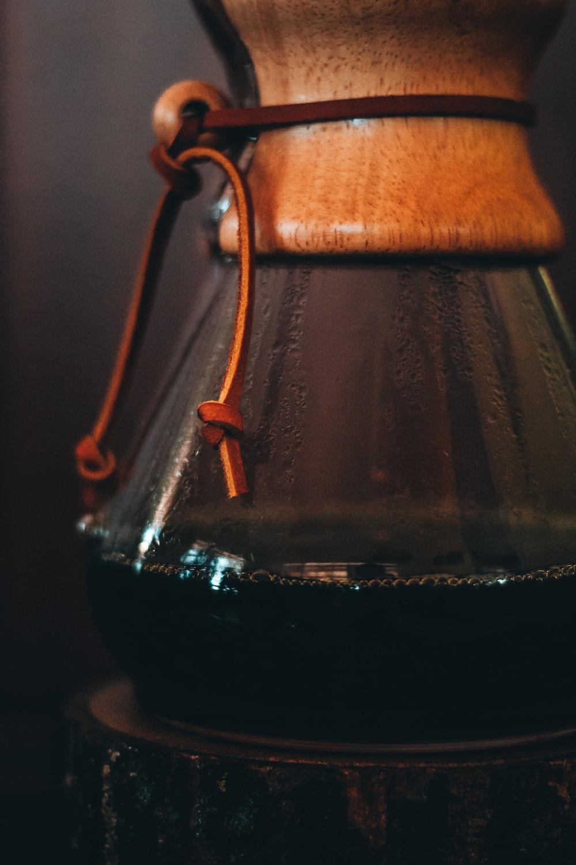 brown wooden hanging decor in tilt shift lens