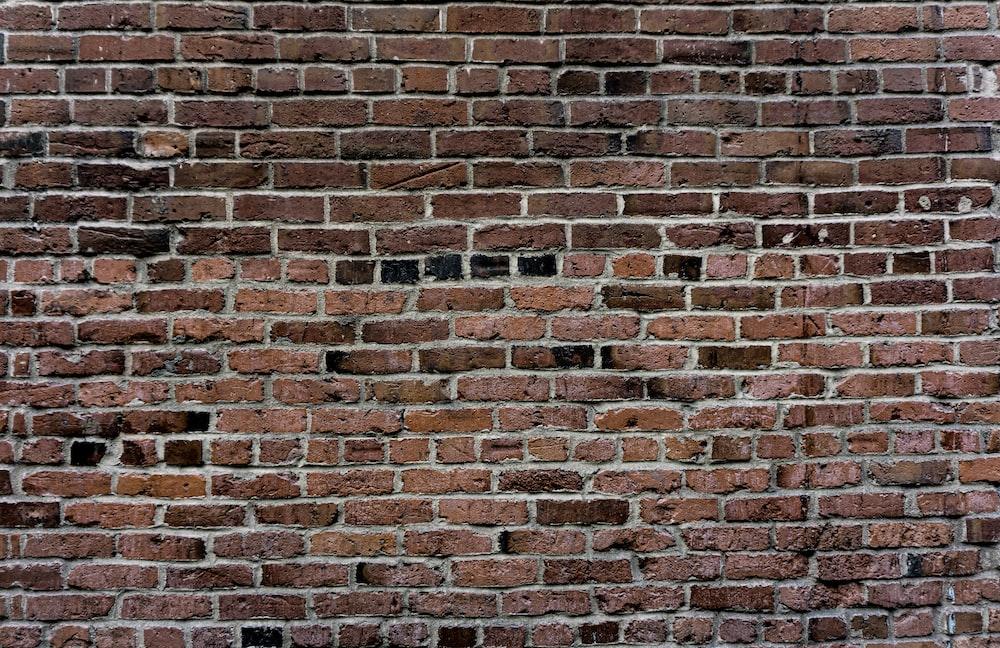 brown and black brick wall