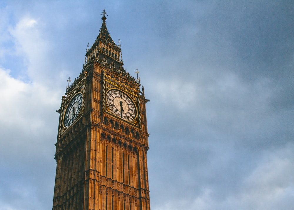 big ben under gray cloudy sky