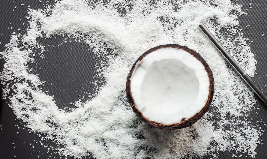 Sorbet coco avec une sorbetière électrique