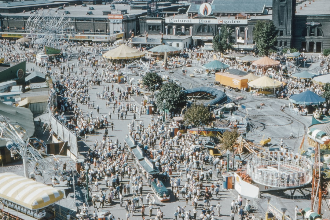 Cne (canadian National Exhibition)  Toronto, the Midway  From Shell Tower October 1959 - unsplash