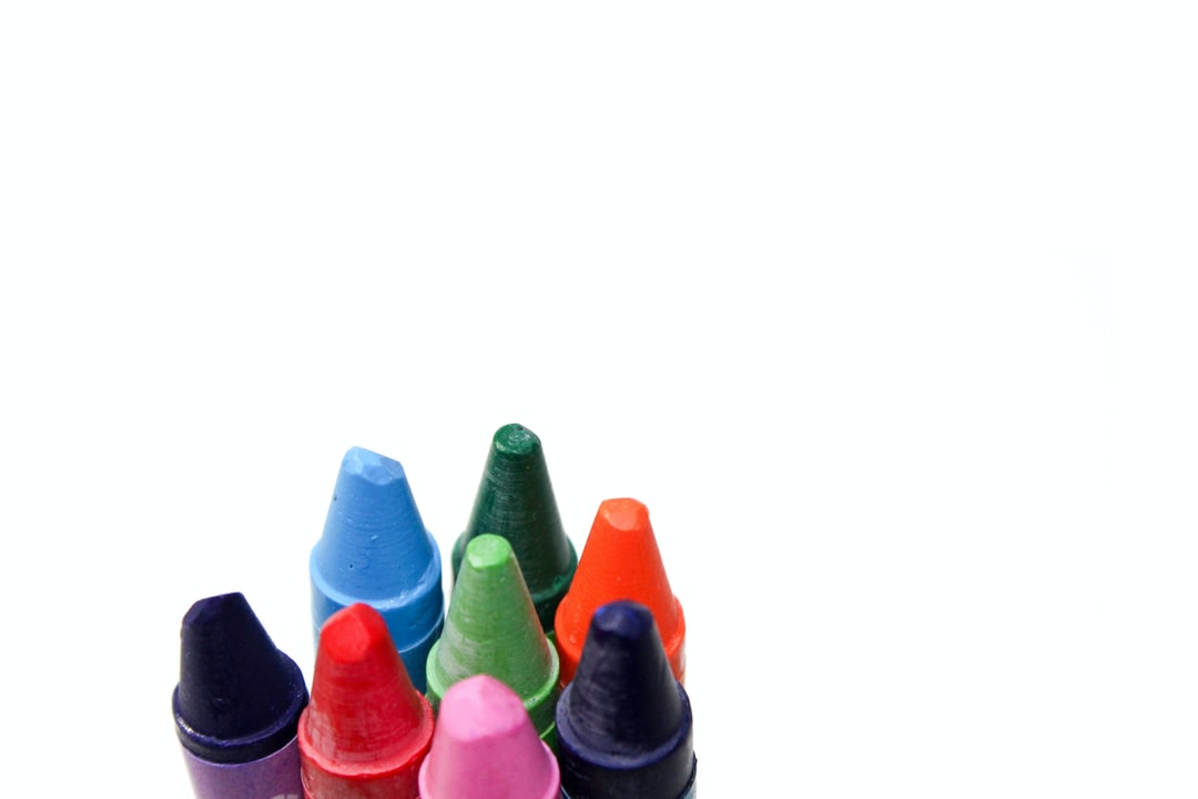 Crayons with white background
