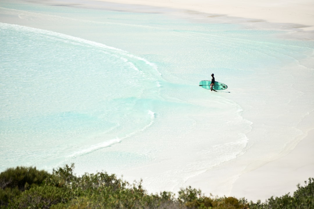 Stand-up paddle in paradise.