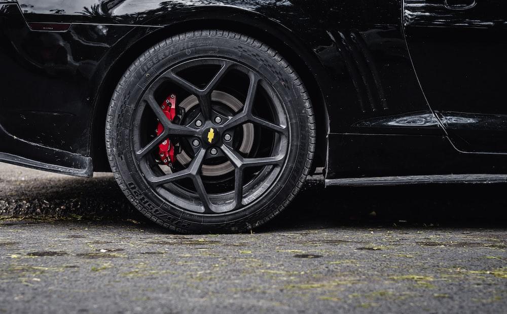 black car with black wheel