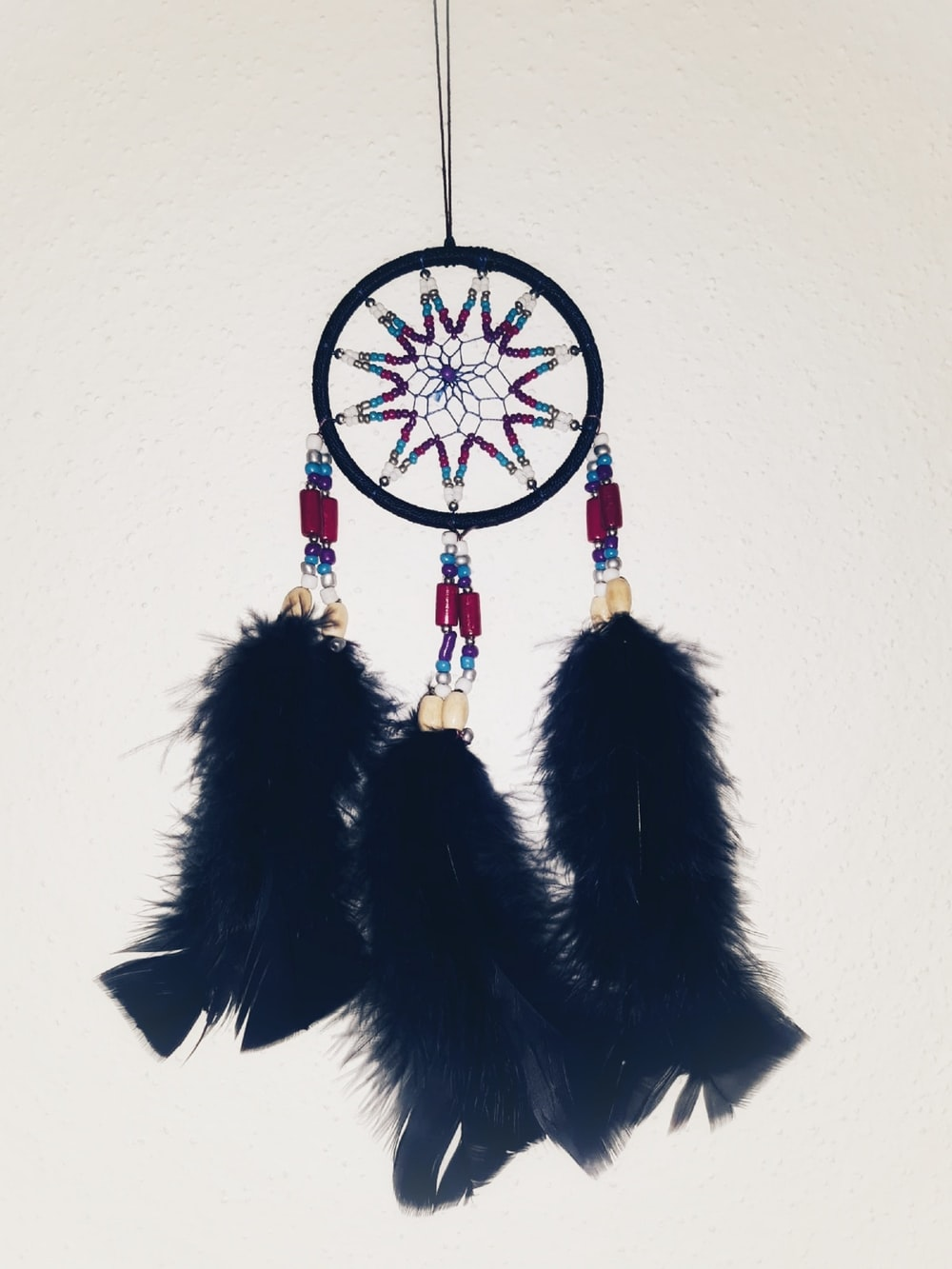 black and purple dream catcher