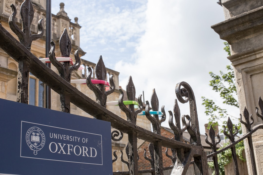 Toothbrushes on the fence in Oxford