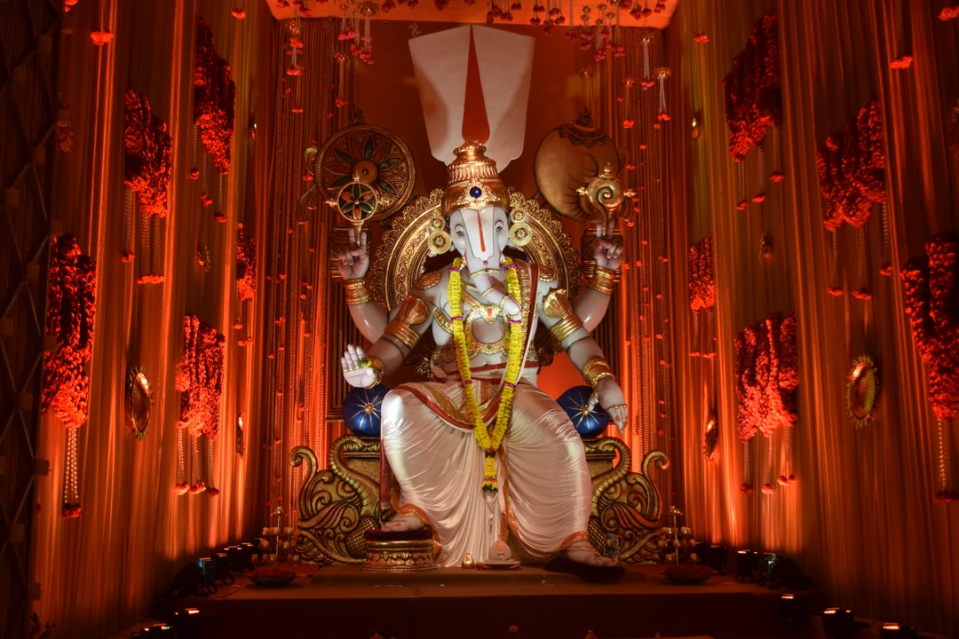 During Ganapti utsav sculpture was at nanpura in surat,Gujarat,India.captured by 360ganesh.com