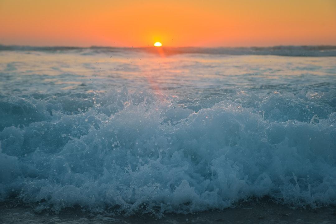 Sunset at Lespecier Beach.