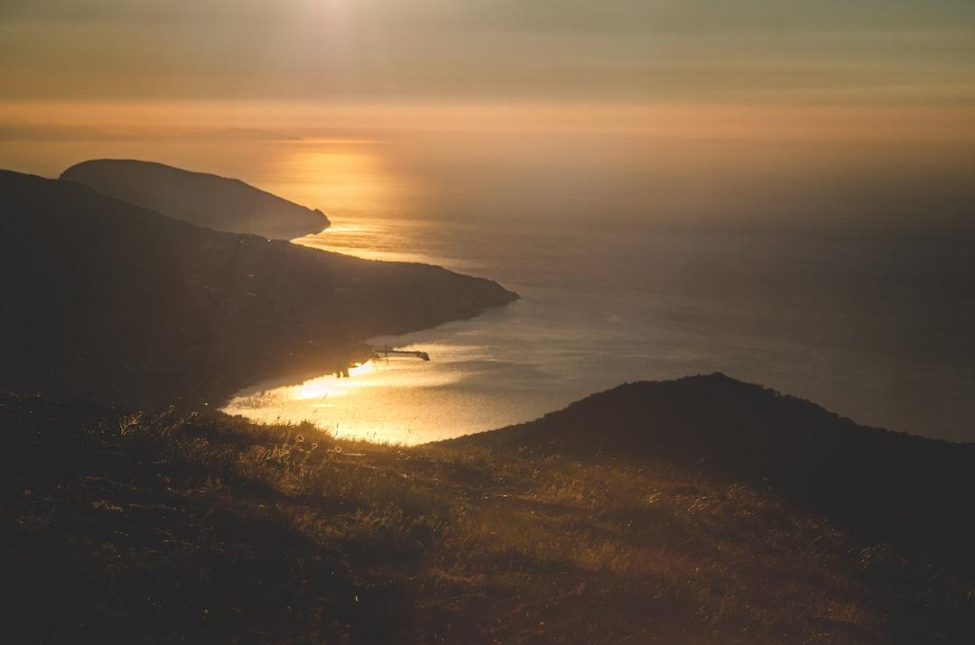 Crimean sunrise landscape
