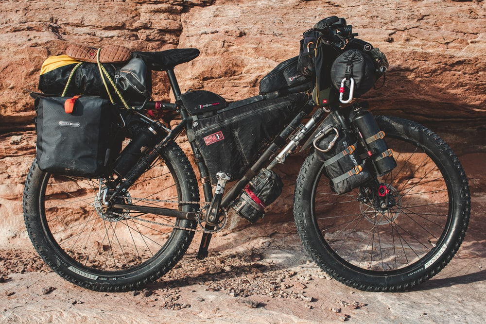 fully equipped fat bike touring bike