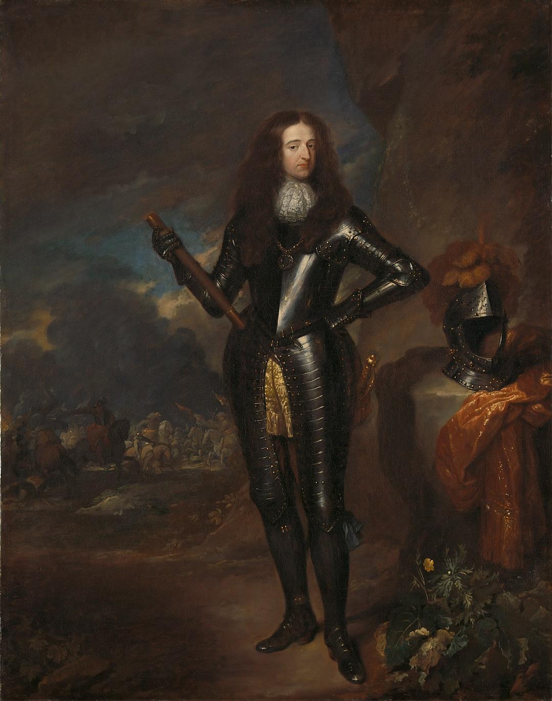 Title: Portrait of William III, Prince of Orange and Stadholder. Date: 1683. Institution: Rijksmuseum. Provider: Rijksmuseum. Providing Country: Netherlands. Public Domain