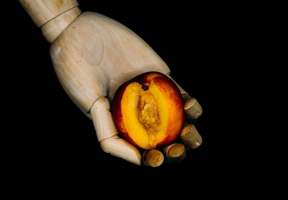 sliced apple fruit on black background