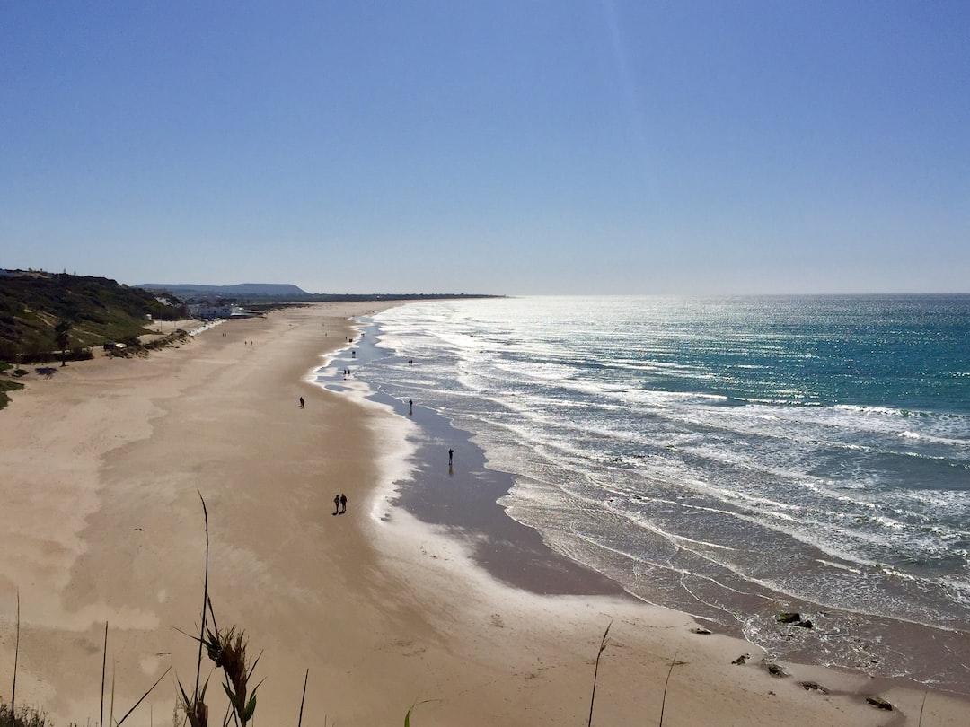 Conil de la Frontera beach in February