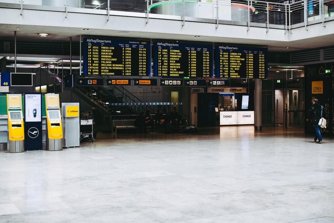 Departure lounge Nuremberg airport international aerodrome (NUE) – starting display