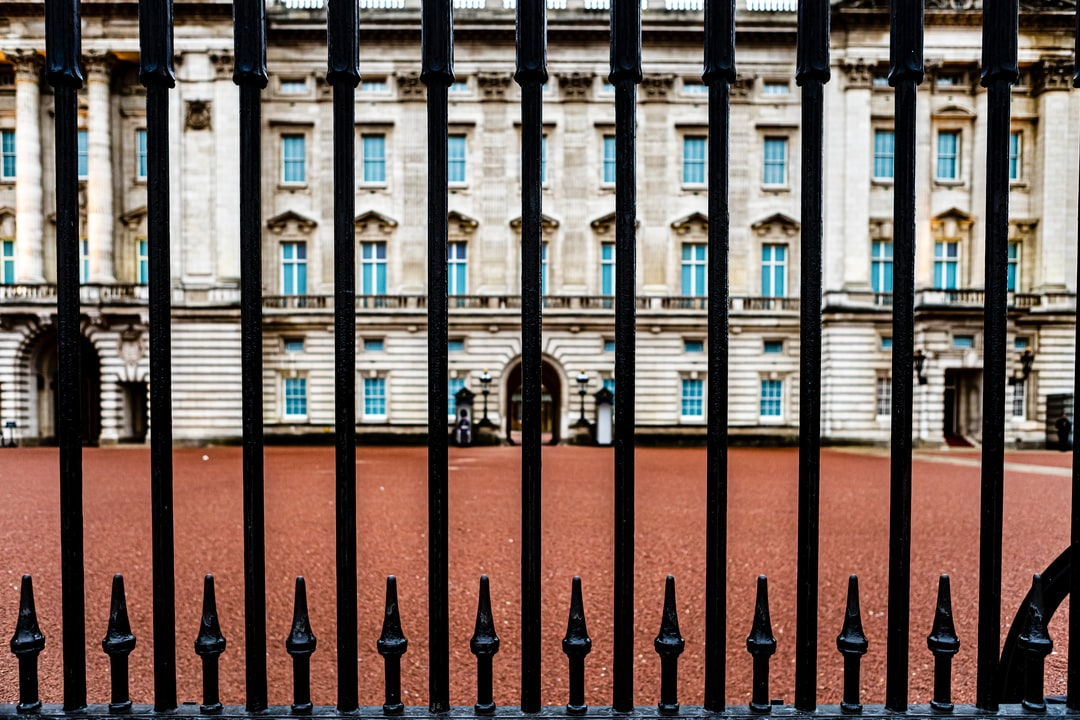 Buckingham Palace, London, UK, 2020. View from the gate.