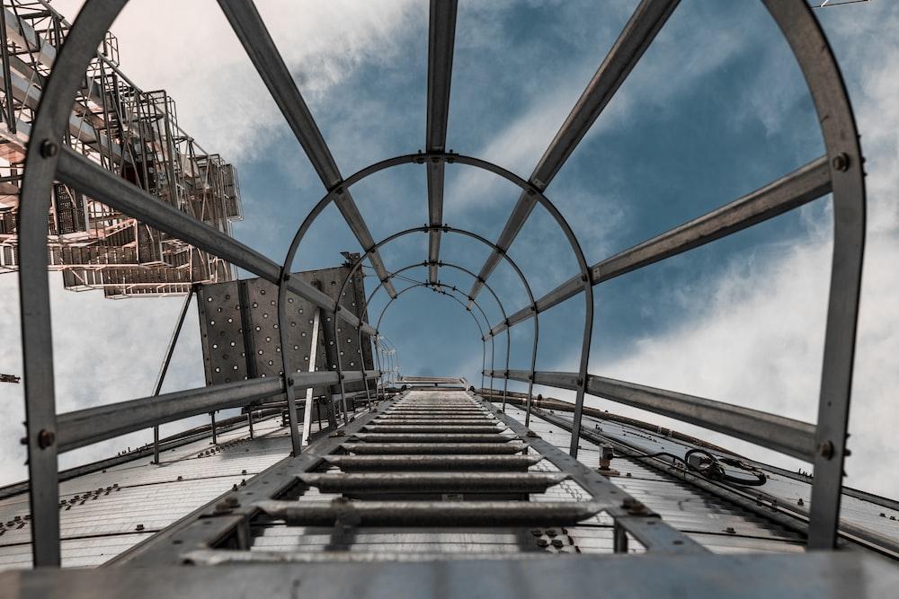 brown and gray metal bridge under blue sky during daytime