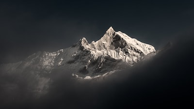 snow covered mountain under blue sky during daytime nepal zoom background