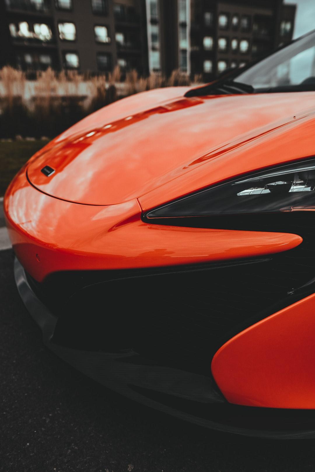 Bright orange McLaren supercar  Insta: @sichpicsss